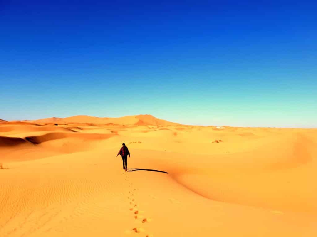 Dunas Deserto Saara em Marrakech, Marrocos