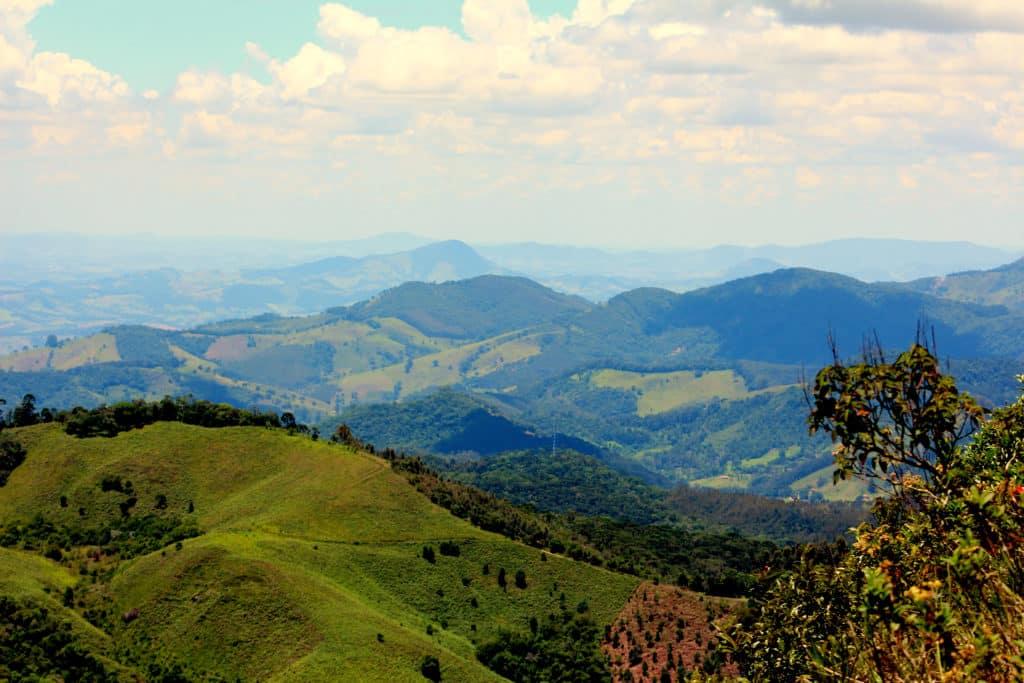Vista da cidade de Gonçalves em Minas Gerais