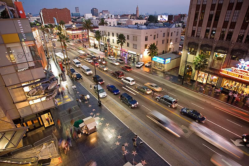 Hollywood Boulevard em Los Angeles