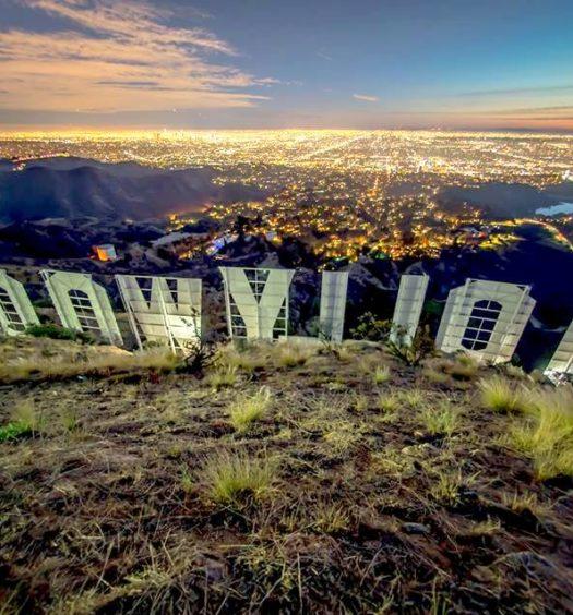 Vista da cidade no Letreiro de Hollywood - Foto: @thehollywoodsign via Facebook