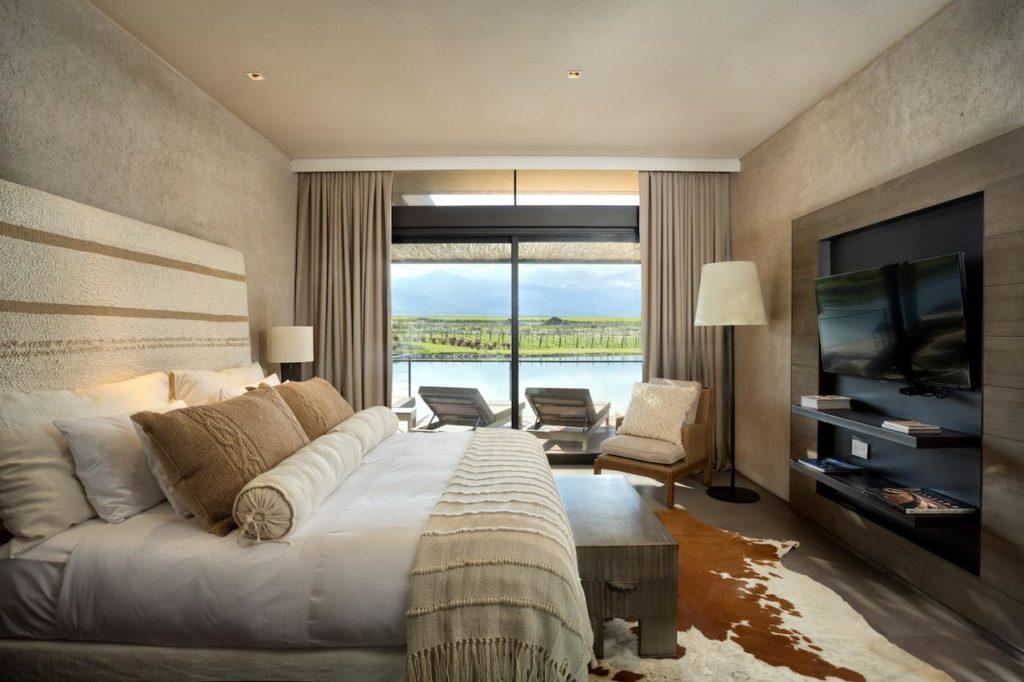 Quarto do hotel The Vines Resort & Spa, em Mendoza Argentina.