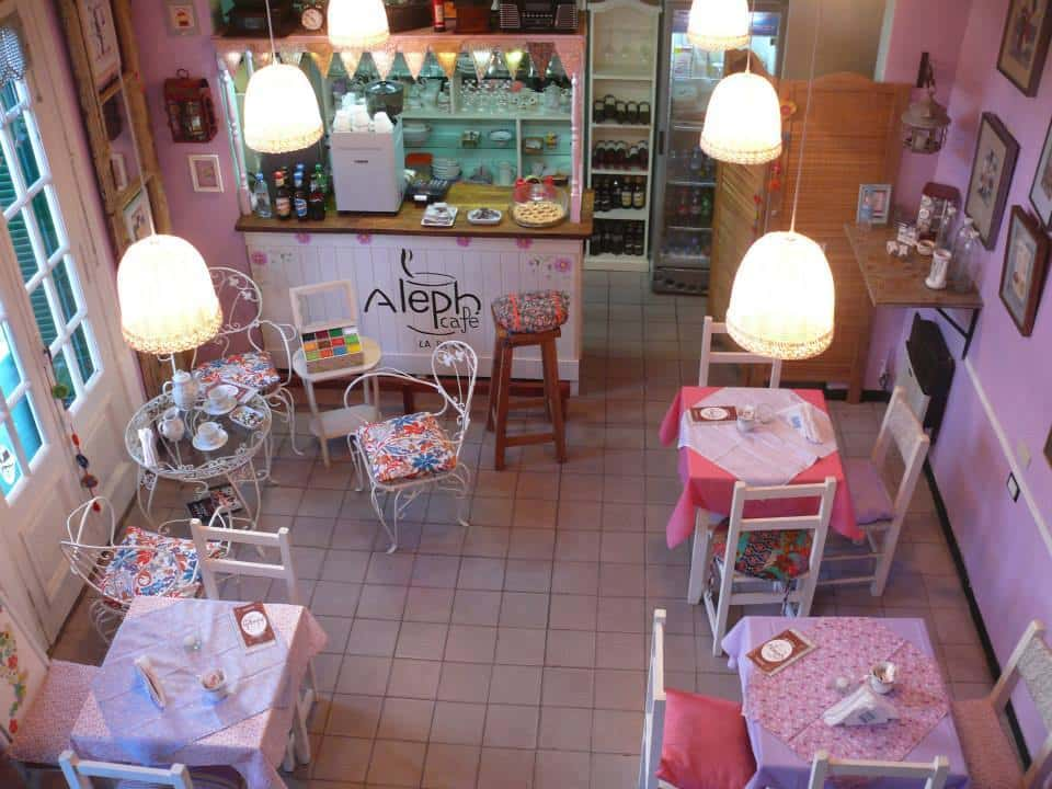 O charmoso Cafe Aleph