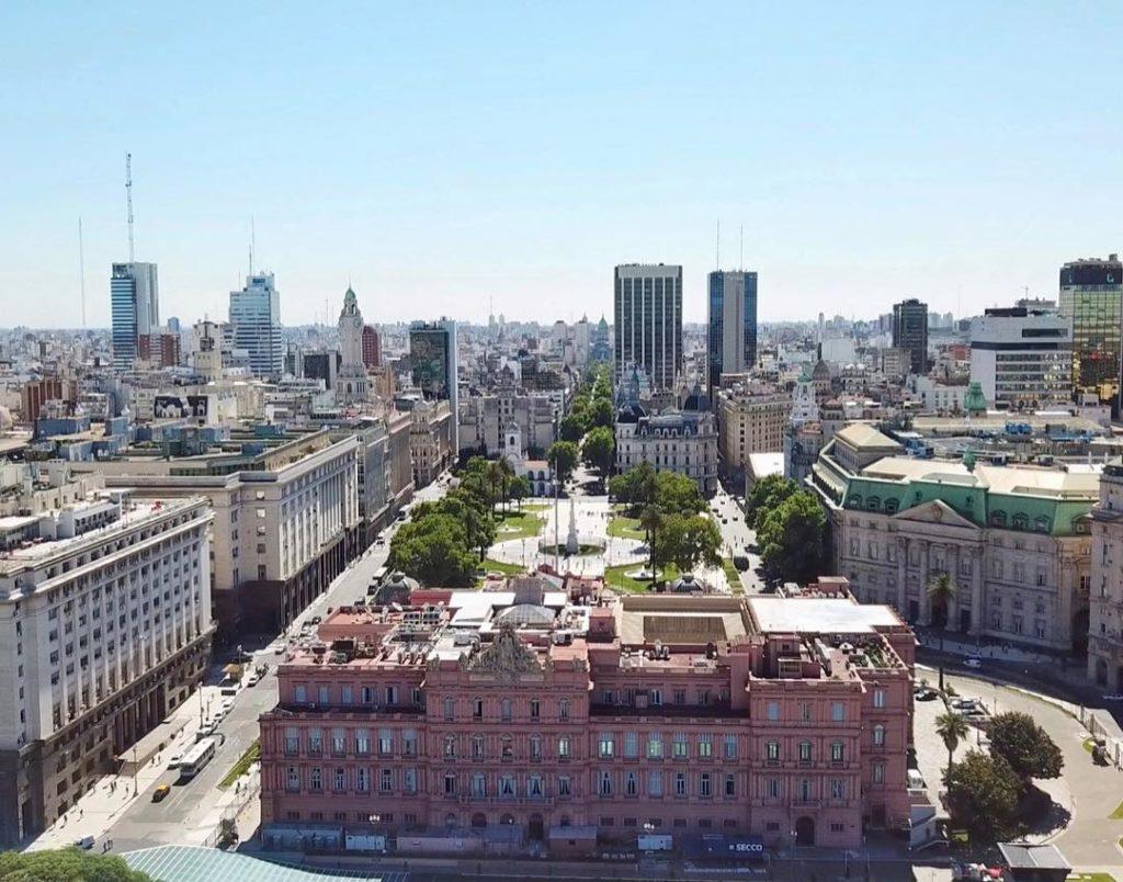 A Casa Rosada e Plaza de Mayo vista de cima - o que fazer em buenos aire