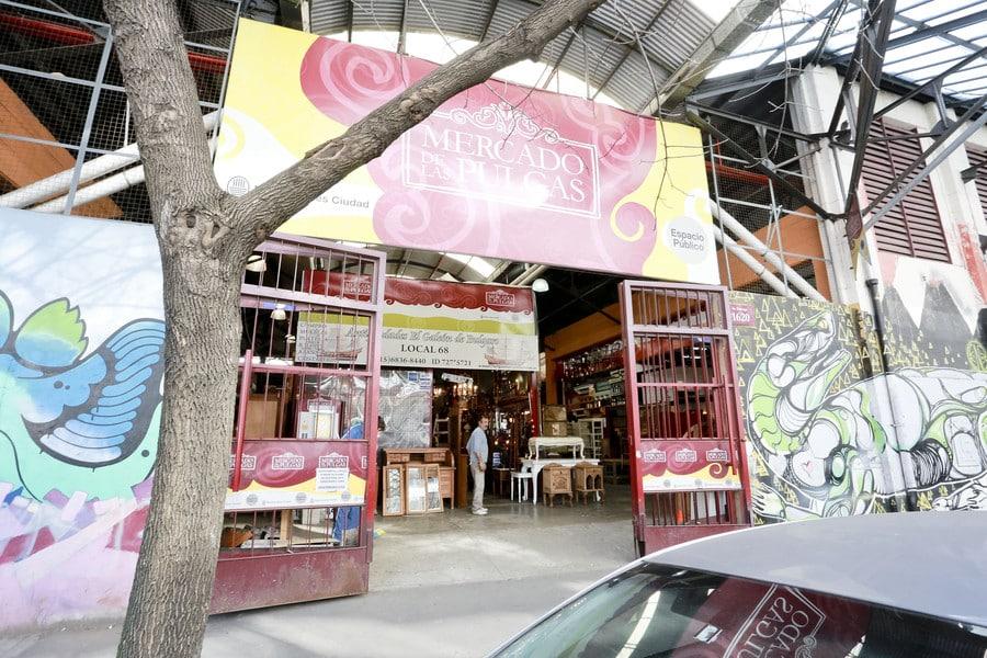 Entrada do Mercado de Pulgas em Palermo Hollywood - Foto: buenosaires.gob.ar