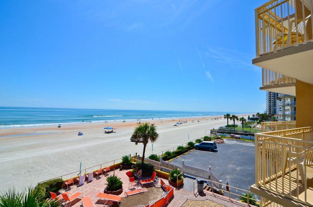 shore hotel vista da praia de daytona beach