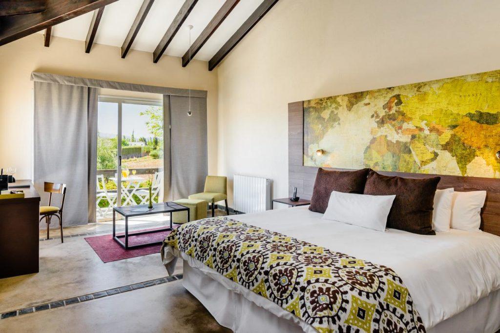 Hoteis em Mendoza - quarto no Villa Mansa