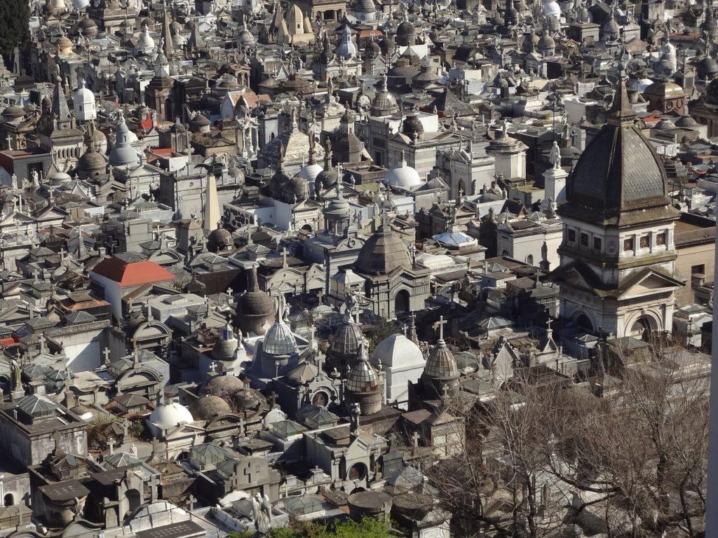 O Cemitério da Recoleta Buenos Aires visto de cima
