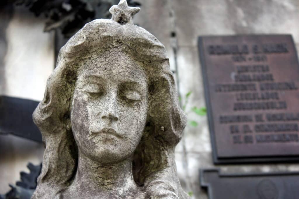 Obras de arte no cemitério da Recoleta Buenos Aires