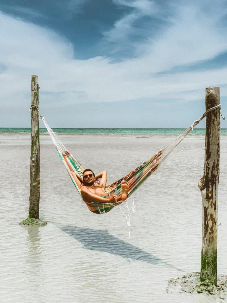 De boa curtindo a vida na Quarta Praia