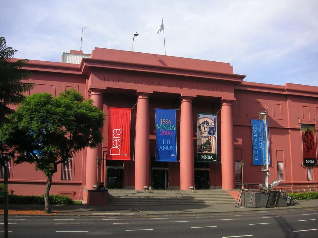 O Museu Nacional de Belas Artes na Recoleta em Buenos Aires