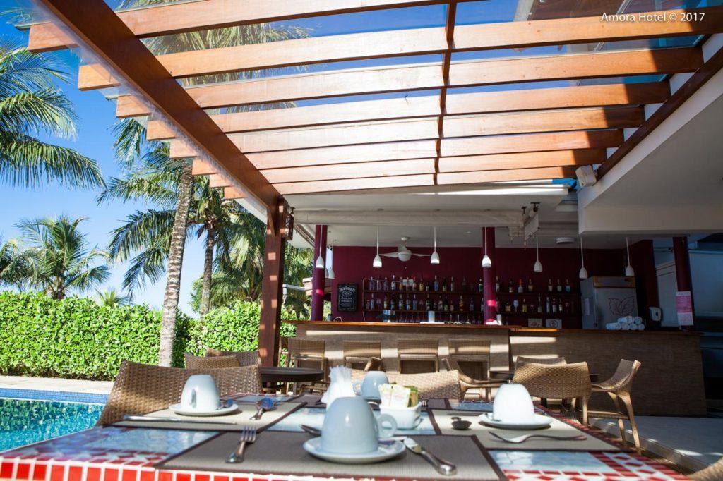 Hotel Amora cafe da manha com vista