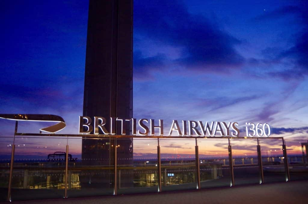Vista do British Airways i360. Foto de David Merrett via Flickr.