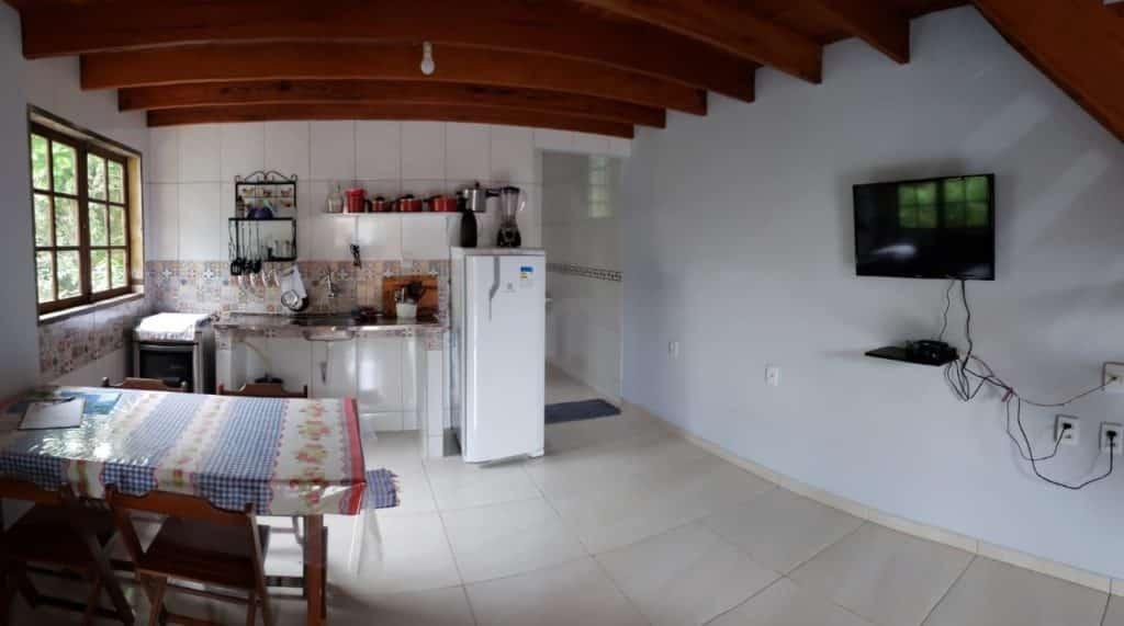 Cozinha no Chale casa das Flores