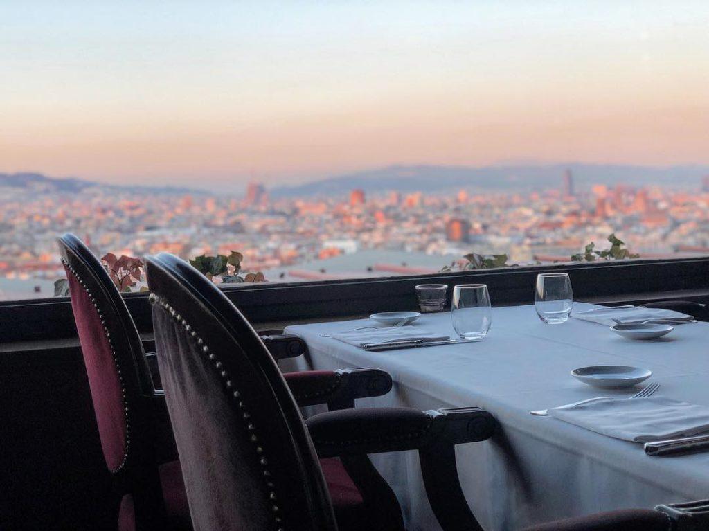 A vista do restaurante El Xalet de Montjuic - Foto: @xaletdemontjuic via Instagram