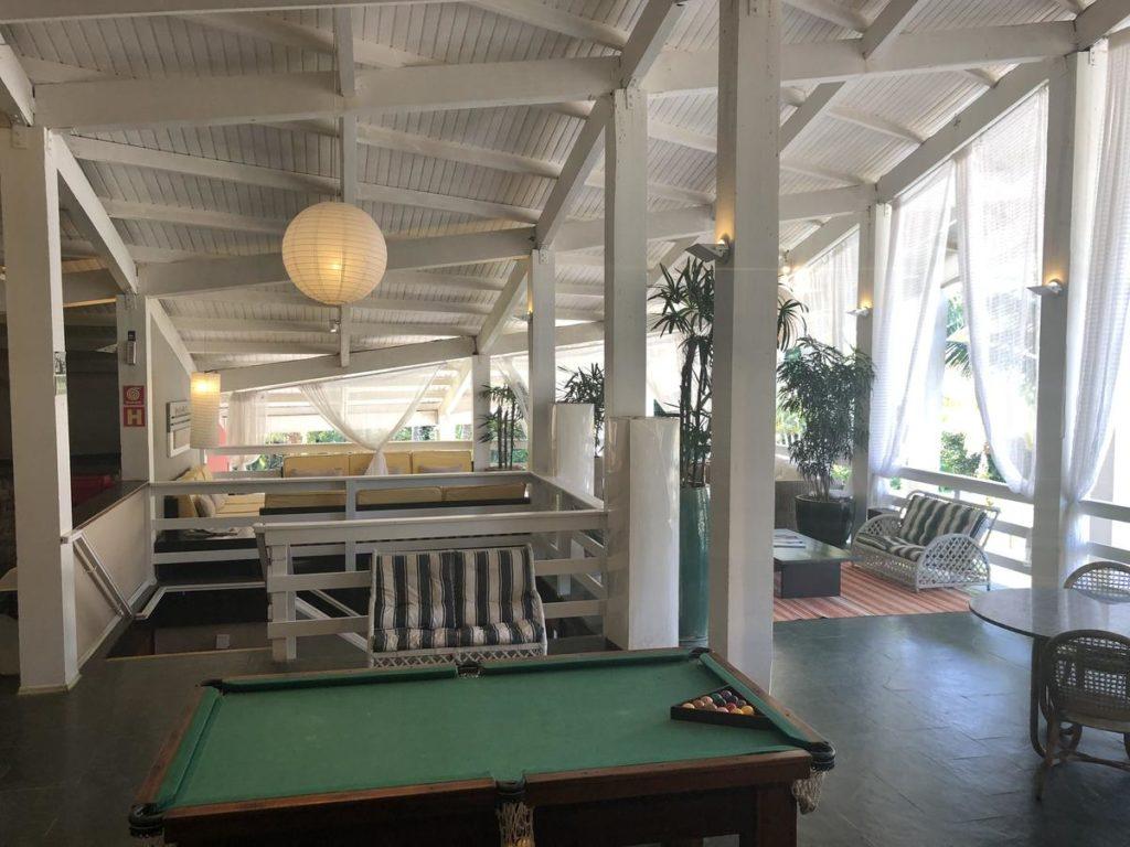sala de jogos da Hotel Delta Maresias