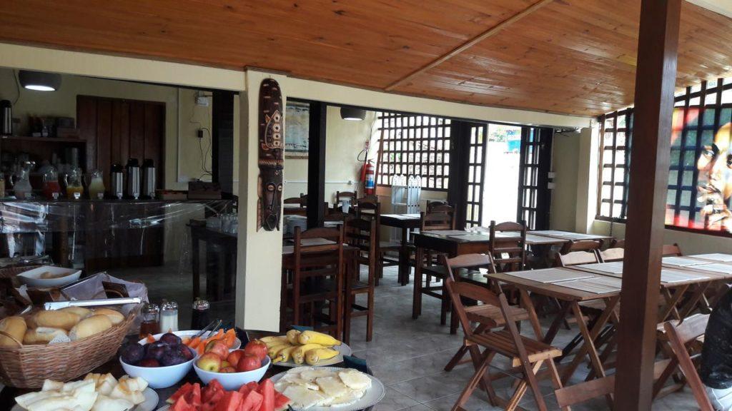 Pousadas em Trindade - Restaurante na Pousada Marimba