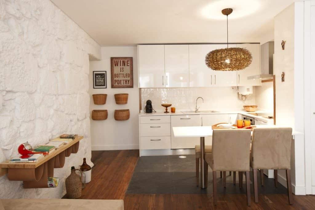 Cozinha no Rua de Trás Apartments