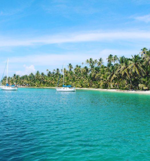 Vista de ilha paradisíaca em San Blas, no Panamá. Foto de Seann McAuliffe via Flickr