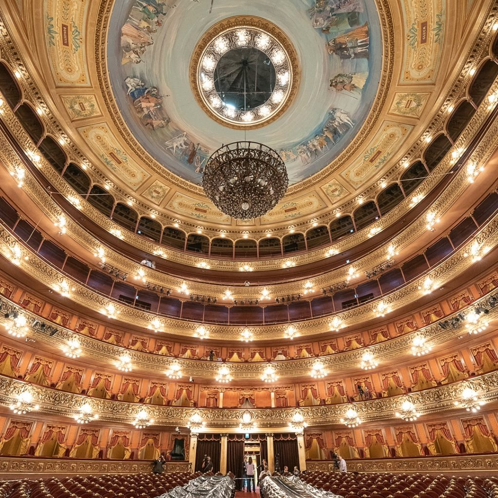 Vista do teatro colon