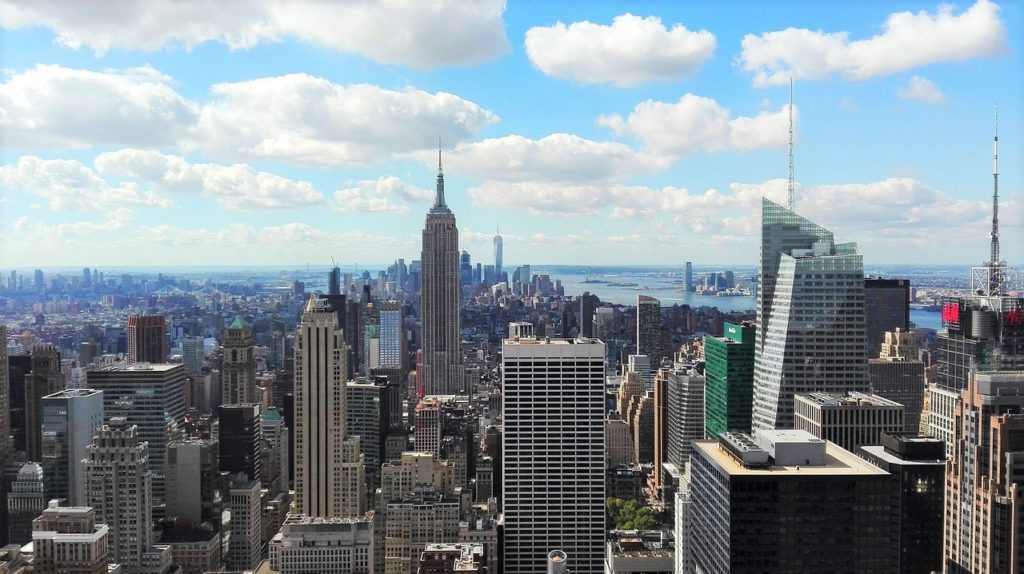 Roteiro Nova York 1 dia: Vista do Top of the Rock, no Rockefeller Center. Foto do pixabay.
