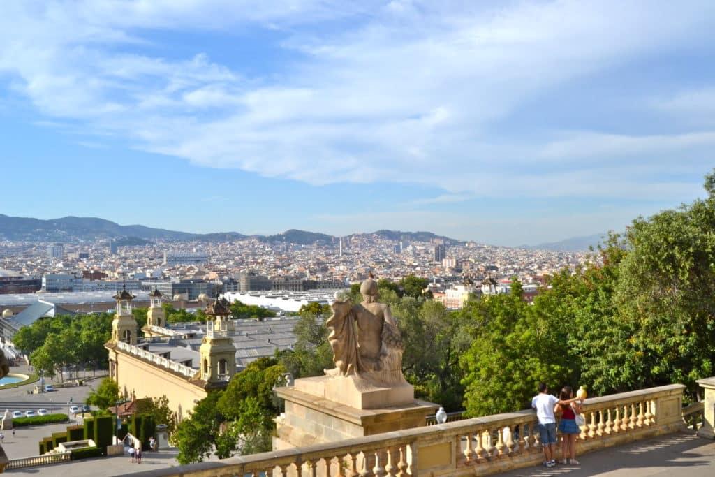 Vista da cidade de Barcelona do Museu Nacional D'Art de Catalunya  - Foto: Oh-Barcelona.com via Flickr