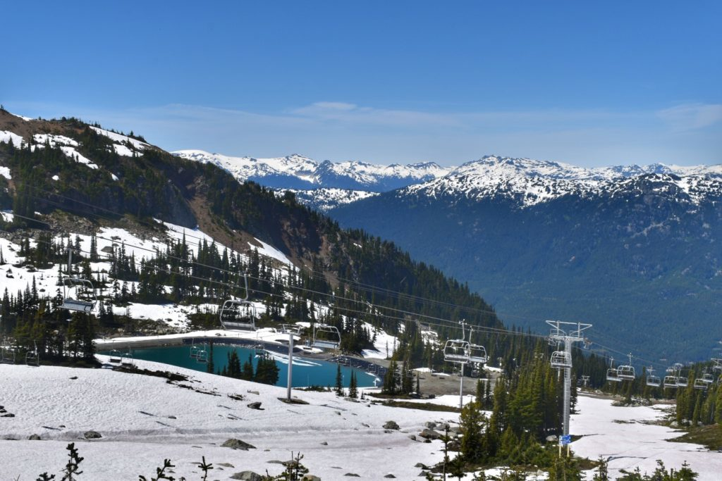 Blackcomb Mountain. É possível subir através da Peak 2 Peak Gondola. Foto: Virginia Falanghe