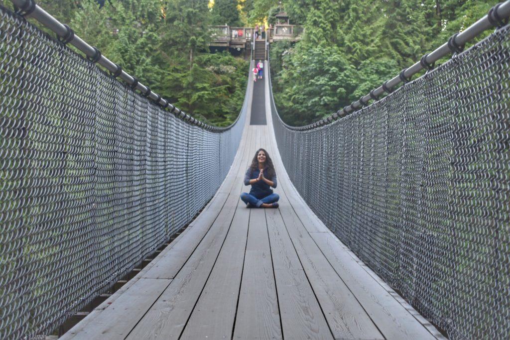 A Capilano Bridge em Vancouver - uma das minhas atrações preferidas