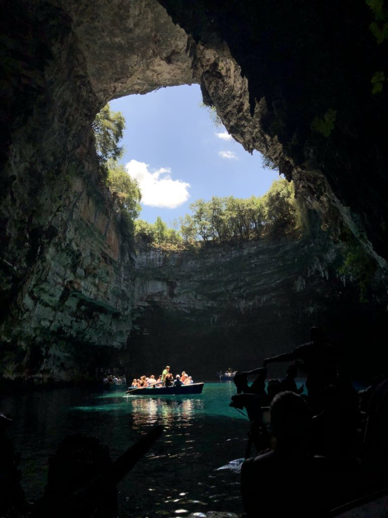 A Melissani Cave em Kefalonia