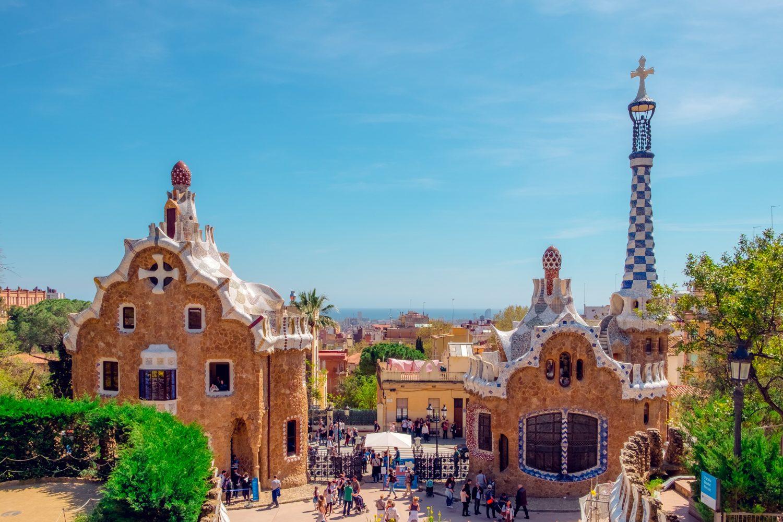 Parque Guell ilustrando post de hotéis em Barcelona