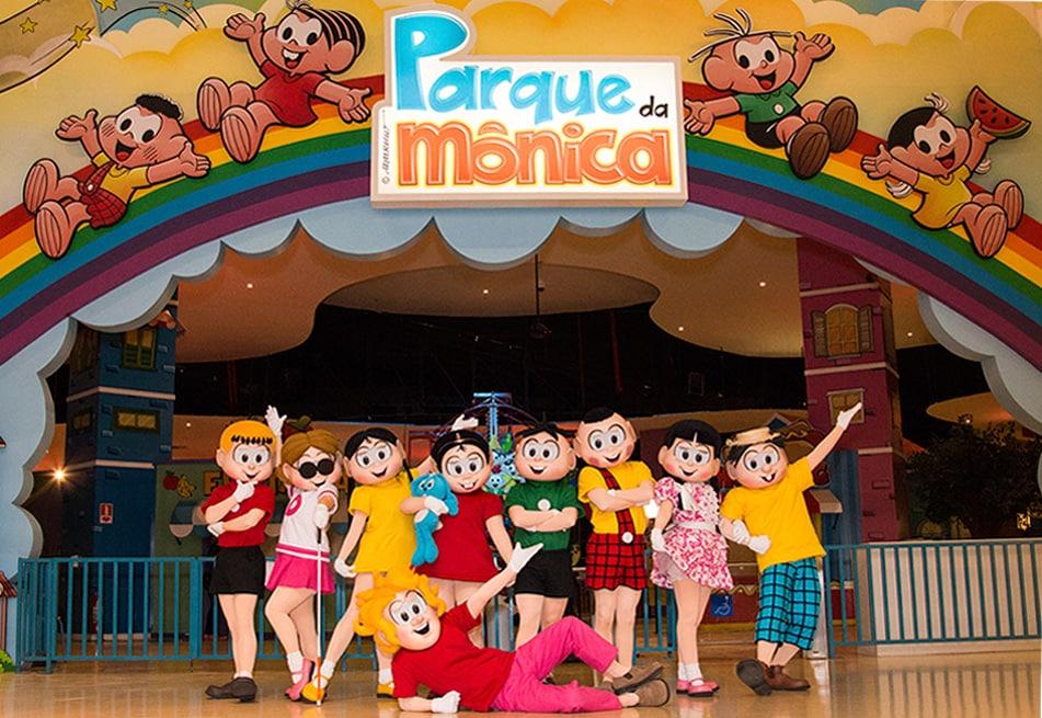O Parque da Mônica em São Paulo, ótima atração para os pequeninos.