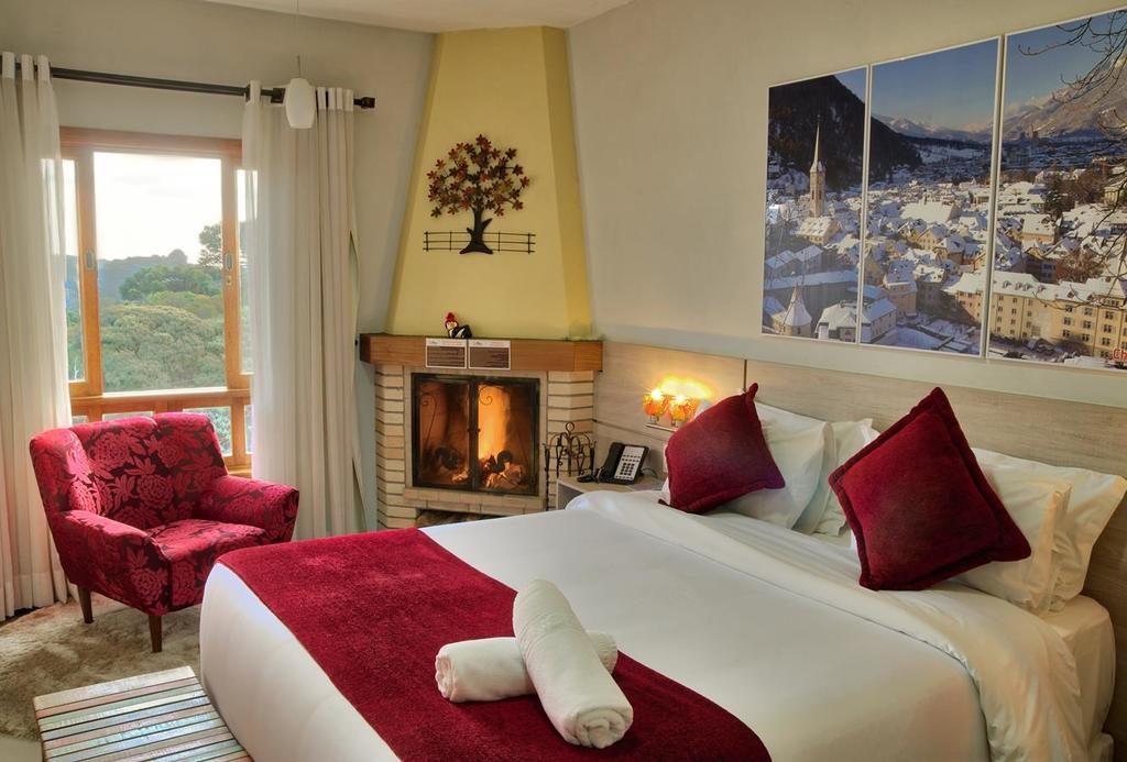 Quarto de casal Pousada Suíça Mineira em Monte Verde MG