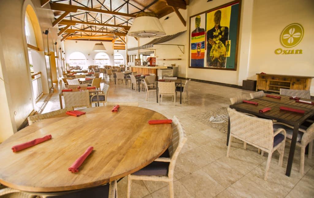 O Restaurante Oxum, com opções da culinária Italiana e Baiana