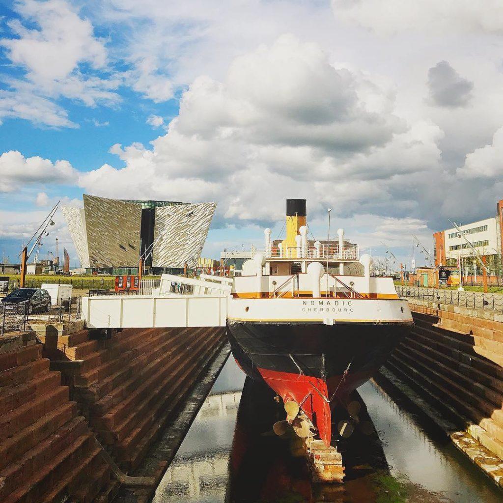 O SSNomadic era um barco de apoio do Titanic e o último da White Star Line remanescente no mundo.