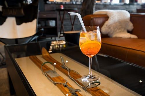 Bebida no Bar Valle Nevado. Foto do site oficial