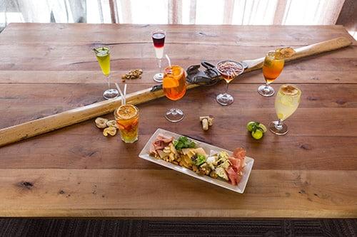 Bebidas do Valle Lounge. Foto do site oficial Valle Nevado