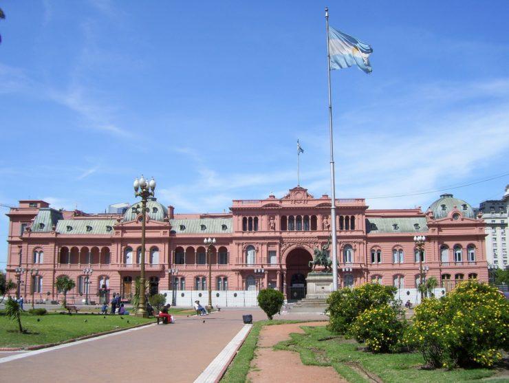 A Casa Rosada em Buenos Aires - Sede do Governo