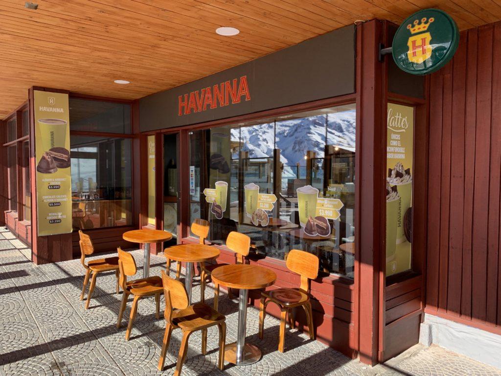Imagem do café Havana no Valle Nevado. Foto de Bruno Tavares