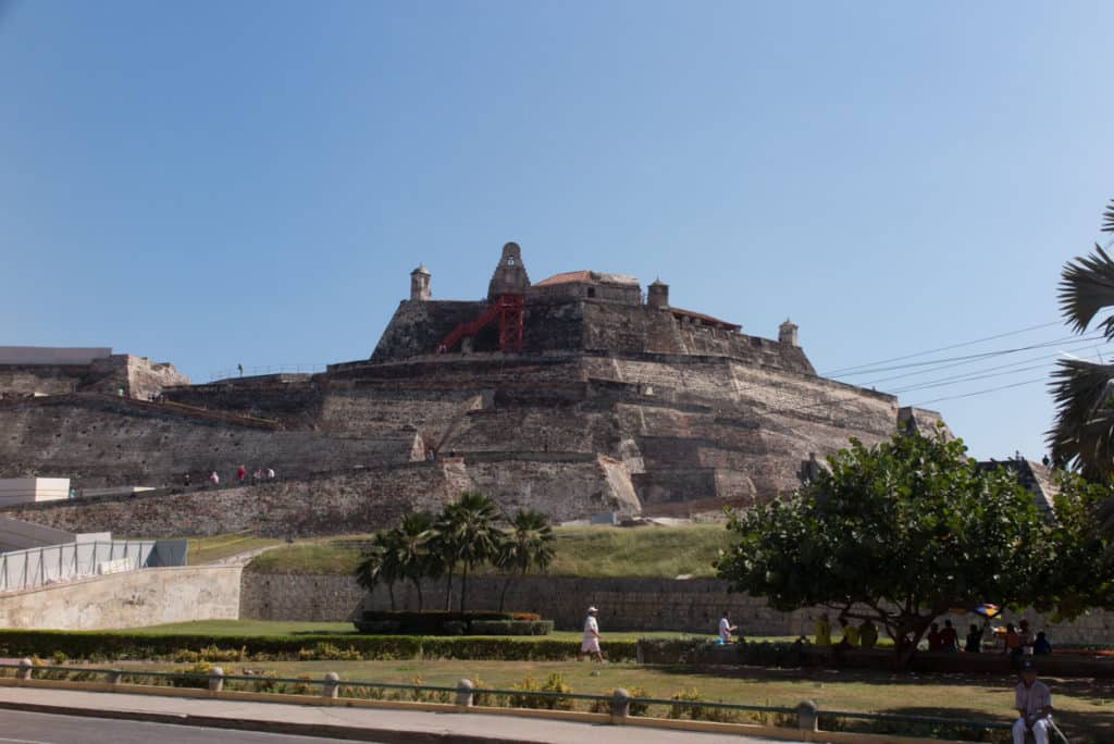 Castelo de San Felipe de Barajas em Cartagena Colômbia