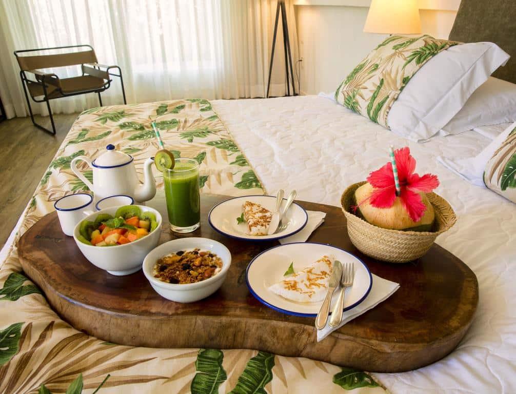 Café da manhã no quarto do Dolphin Hotel
