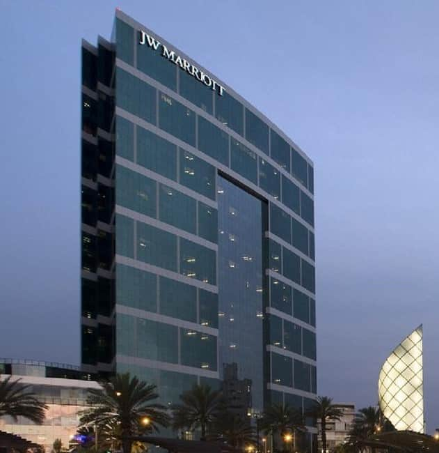 Prédio/fachada JW Marriott Hotel Lima.