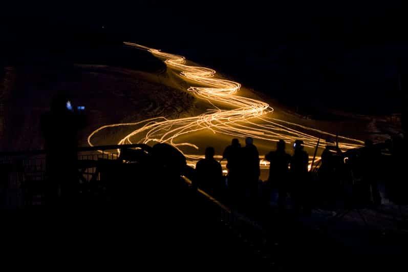 Show das tochas no Valle Nevado