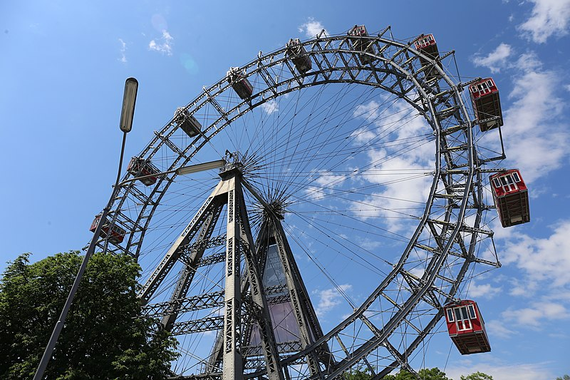 A roda gigante Wiener Riesenrad em Prater