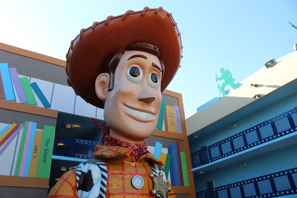 Woody do filme Toy Story em resort do complexo Disney Magic Kingdom