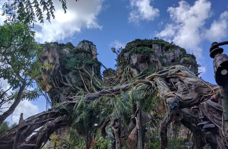 Montanhas flutuantes da área de Pandora, no Avatar Animal Kindgom