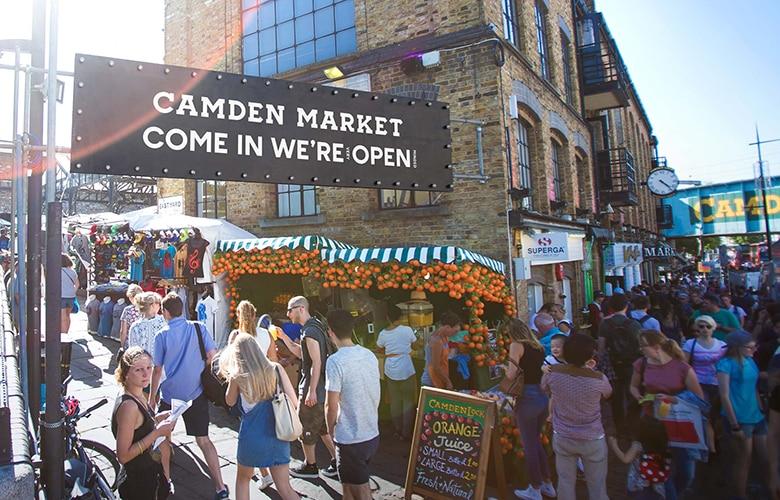 Entrada do Camden Market