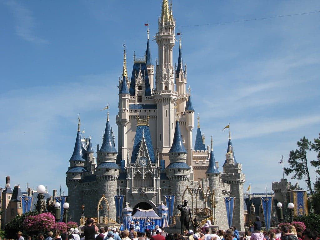 Cinderella Castle no Magic Kingdom, a marca registrada do parque
