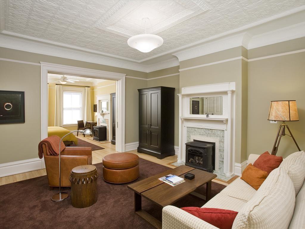 Sala do resort Cavallo Point, opção de onde ficar em San Francisco e arredores