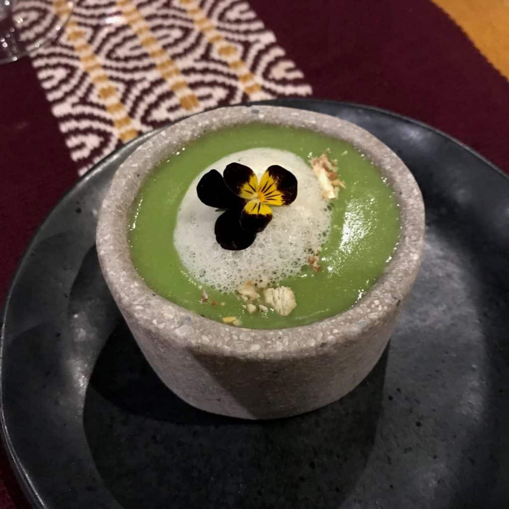 Foto de caldo verde chamado Crema de Choclo