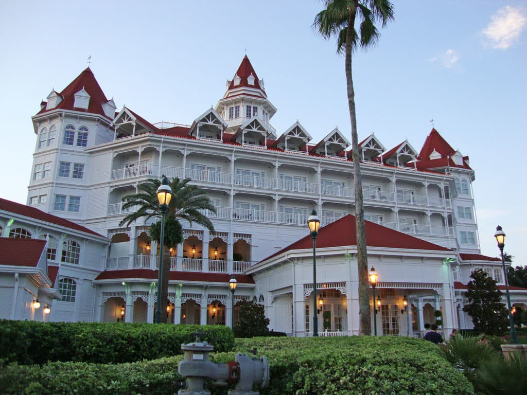 Vista do resort Grand Floridian, no Disney Magic Kingdom