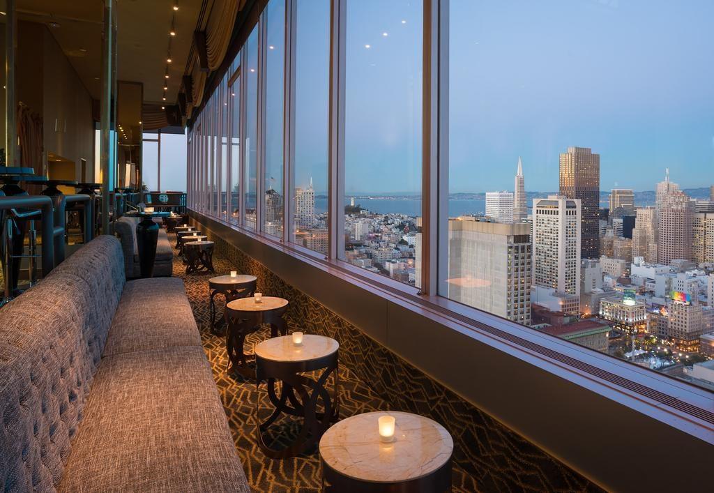 Bar no Hilton Union Square, opção de onde ficar em San Francisco